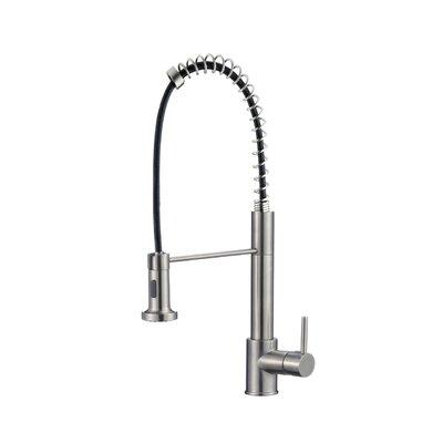 Deo Single Deck Mounted Kitchen Faucet Finish: Brushed Nickel