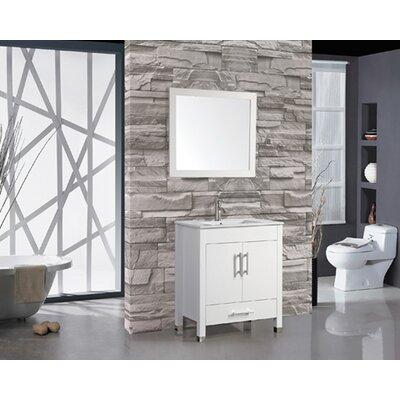 Prahl Contemporary 36 Single Sink Bathroom Vanity Set with Mirror