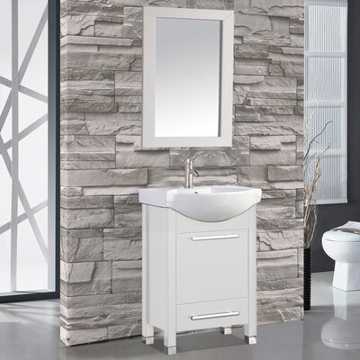 Peru 24 Single Sink Bathroom Vanity Set with Mirror
