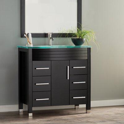Prall Modern 36 Single Sink Bathroom Vanity Set with Mirror