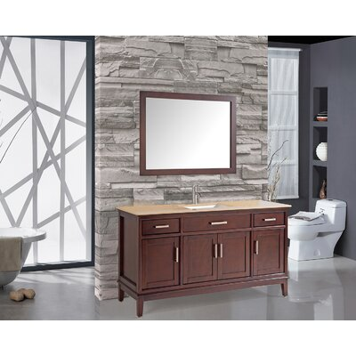 Middleton 59.8 Single Bathroom Vanity Set with Mirror and Faucet