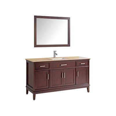Middleton 48 Single Bathroom Vanity Set with Mirror and Faucet