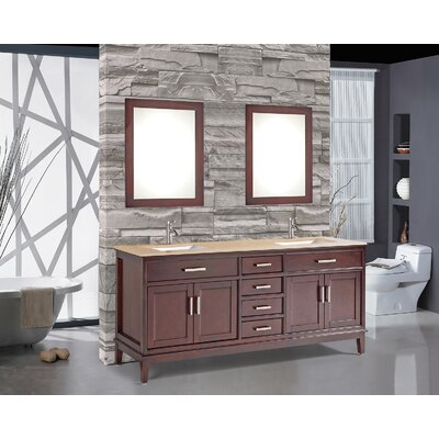 Middleton 72 Double Bathroom Vanity Set with Mirror and Faucet