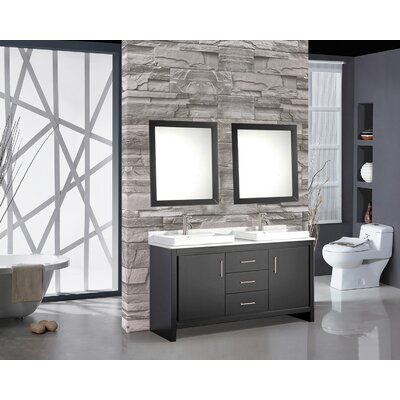 Chauncy 60 Double Sink Bathroom Vanity Set with Mirror