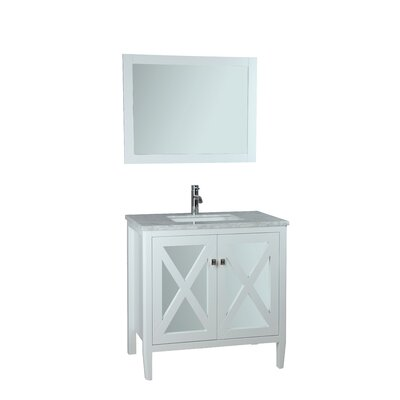 Denker 24 Single Bathroom Vanity Set with Mirror