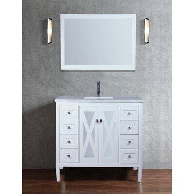 Denker 48 Single Bathroom Vanity Set with Mirror