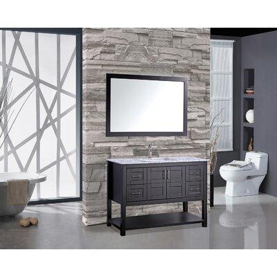Ringler 48 Single Bathroom Vanity Set with Mirror Base Finish: Espresso