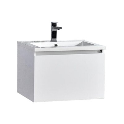 Peguero 30 Single Sink Bathroom Vanity Set Base Finish: White