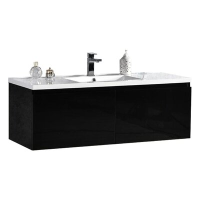 Peguero 47 Single Sink Bathroom Vanity Set Base Finish: Black