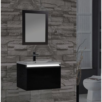 Peguero 30 Single Sink Bathroom Vanity Set Base Finish: Black