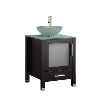 Prange Modern 24 Single Bathroom Vanity Set Base Finish: Espresso