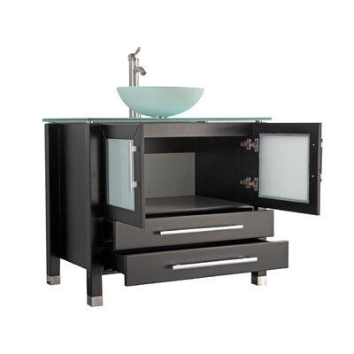 Prange Modern 36 Single Bathroom Vanity Set Base Finish: Espresso