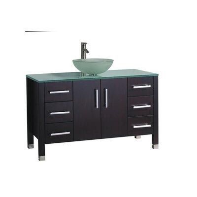 Prange Modern 48 Single Bathroom Vanity Set Base Finish: Espresso