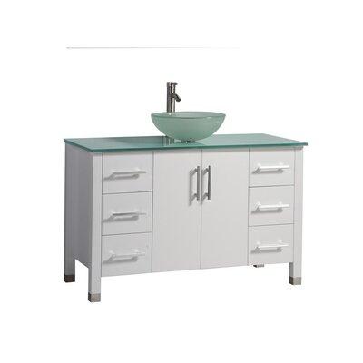 Prange Modern 48 Single Bathroom Vanity Set Base Finish: White