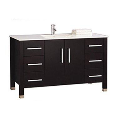 Predmore Modern 60 Single Bathroom Vanity Set Base Finish: Espresso
