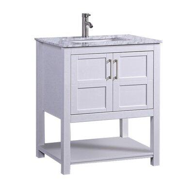 Mallouk Modern 24 Single Bathroom Vanity Set Base Finish: White