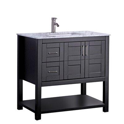 Mallouk Modern 36 Single Bathroom Vanity Set Base Finish: Espresso
