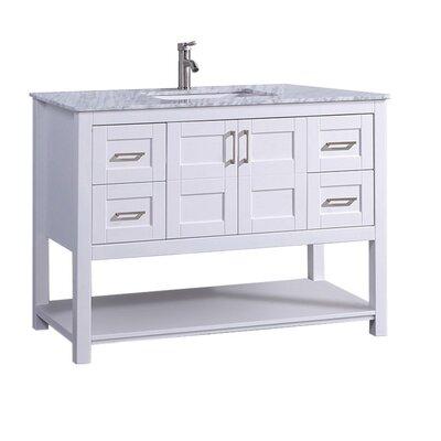 Mallouk Modern 48 Single Bathroom Vanity Set Base Finish: White