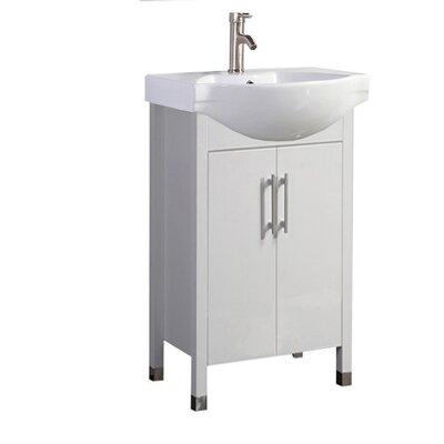 Pehrson Modern 20 Single Bathroom Vanity Set Base Finish: White