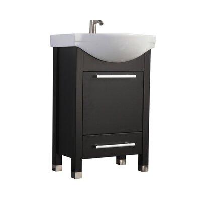 Pehrson Modern 24 Single Bathroom Vanity Set Base Finish: Espresso