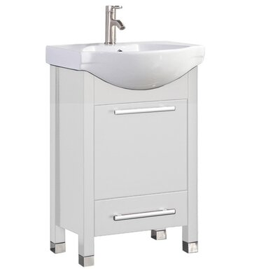 Pehrson Modern 24 Single Bathroom Vanity Set Base Finish: White
