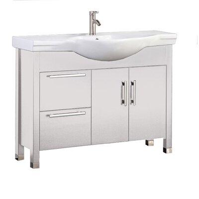 Pehrson Modern 40 Single Bathroom Vanity Set Base Finish: White