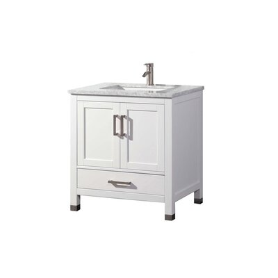 Peralez Modern 24 Single Bathroom Vanity Set Base Finish: White