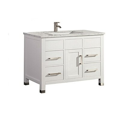 Peralez Modern 36 Single Bathroom Vanity Set Base Finish: White