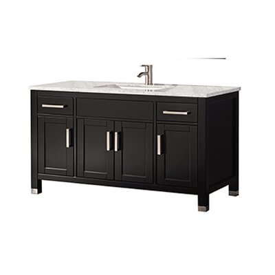 Peralez Modern 60 Single Bathroom Vanity Set Base Finish: Espresso