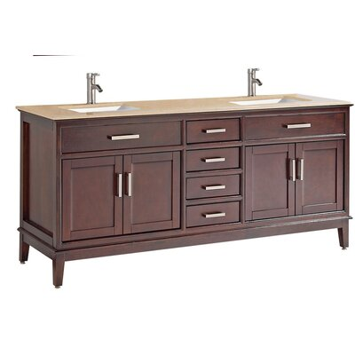Middleton Modern 72 Double Bathroom Vanity Set