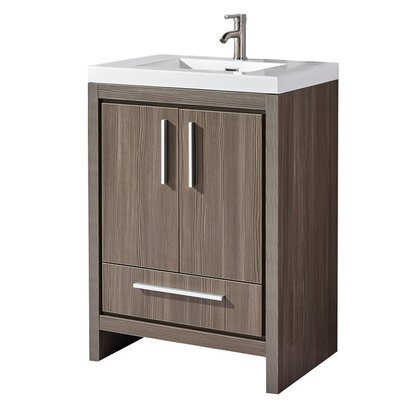 Peiffer Modern 24 Single Bathroom Vanity Set Base Finish: Gray Pine