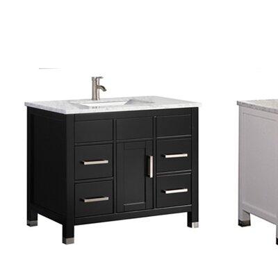 Peralez Modern 36 Single Bathroom Vanity Set Base Finish: Espresso