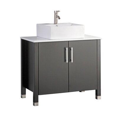 Larock Modern 36 Single Bathroom Vanity Set Base Finish: Espresso