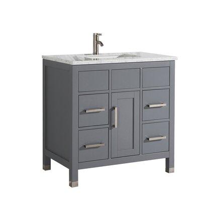 Peralez Modern 36 Single Bathroom Vanity Set Base Finish: Gray