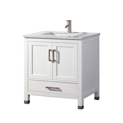 Peralez Modern 30 Single Bathroom Vanity Set Base Finish: White