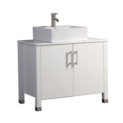 Larock Modern 36 Single Bathroom Vanity Set Base Finish: White