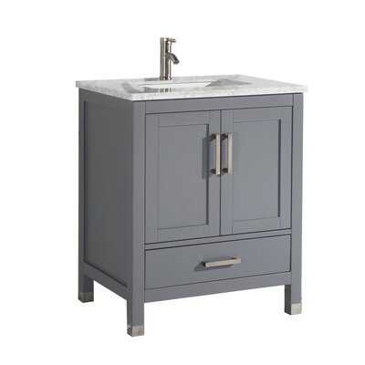 Peralez Modern 30 Single Bathroom Vanity Set Base Finish: Gray
