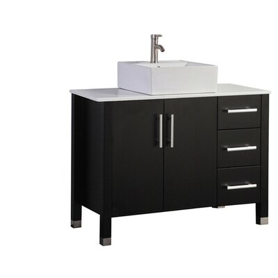 Larock Modern 40 Single Bathroom Vanity Set Base Finish: Espresso