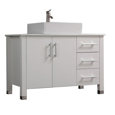 Larock Modern 40 Single Bathroom Vanity Set Base Finish: White