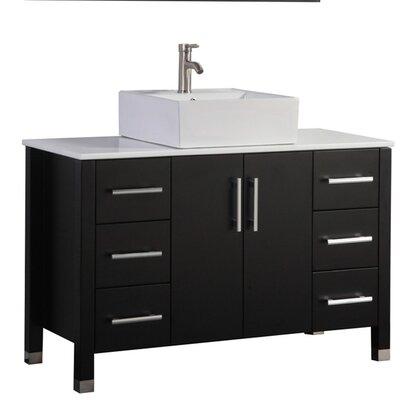 Larock Modern 48 Single Bathroom Vanity Set Base Finish: Espresso