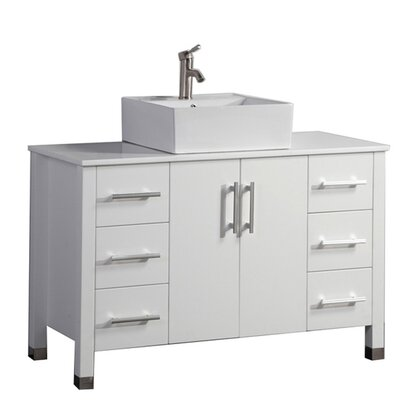 Larock Modern 48 Single Bathroom Vanity Set Base Finish: White