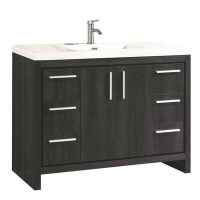 Peiffer Modern 48 Single Bathroom Vanity Set Base Finish: Black Walnut