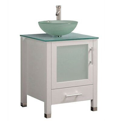 Prange Modern 24 Single Bathroom Vanity Set Base Finish: White