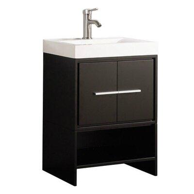 Peirce Modern 24 Single Bathroom Vanity Set Base Finish: Espresso