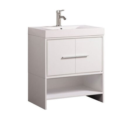 Peirce Modern 30 Single Bathroom Vanity Set Base Finish: White