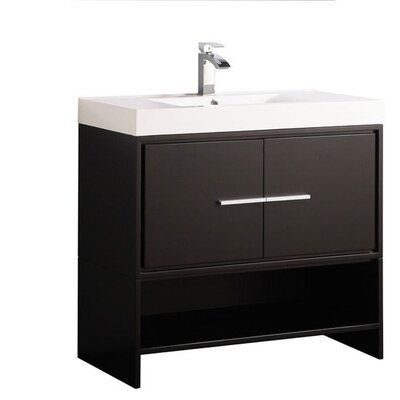 Peirce Modern 36 Single Bathroom Vanity Set Base Finish: Espresso