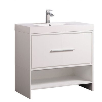 Peirce Modern 36 Single Bathroom Vanity Set Base Finish: White