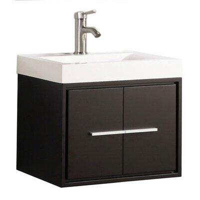 Peirce Wall Mounted Modern 30 Single Bathroom Vanity Set Base Finish: Espresso