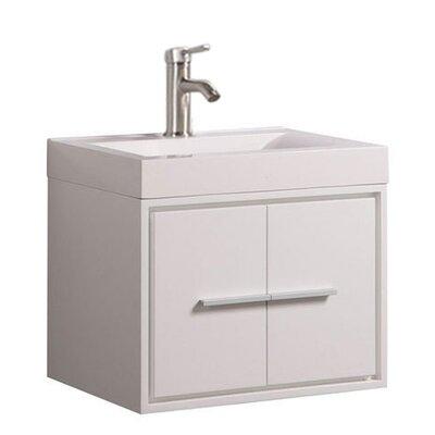 Peirce Wall Mounted Modern 30 Single Bathroom Vanity Set Base Finish: White