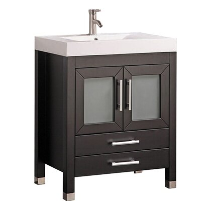 Preciado Modern 30 Wood Base Single Bathroom Vanity Set Base Finish: Espresso